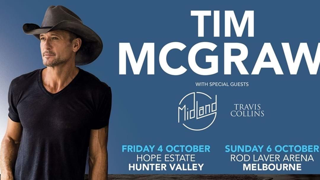 Article heading image for Tim McGraw Announces Australian Headline Shows