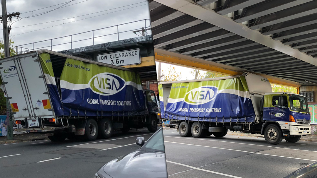 Article heading image for Another Melbourne Bridge Totals A Truck, Throws Down Title Challenge To The Montague