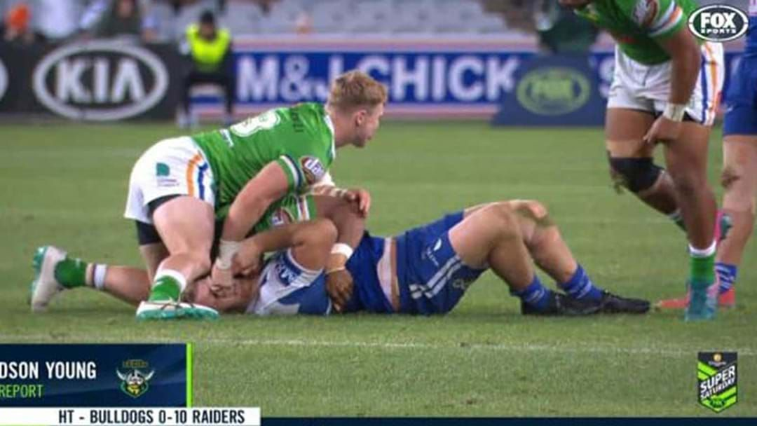 "Article heading image for ""Low Act"": Bill Harrigan Slams Raiders Forward Hudson Young For Eye Gouge"