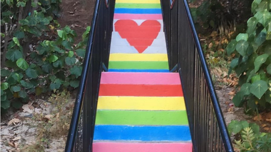 Article heading image for Rainbow Returns To Miami Beach Staircase