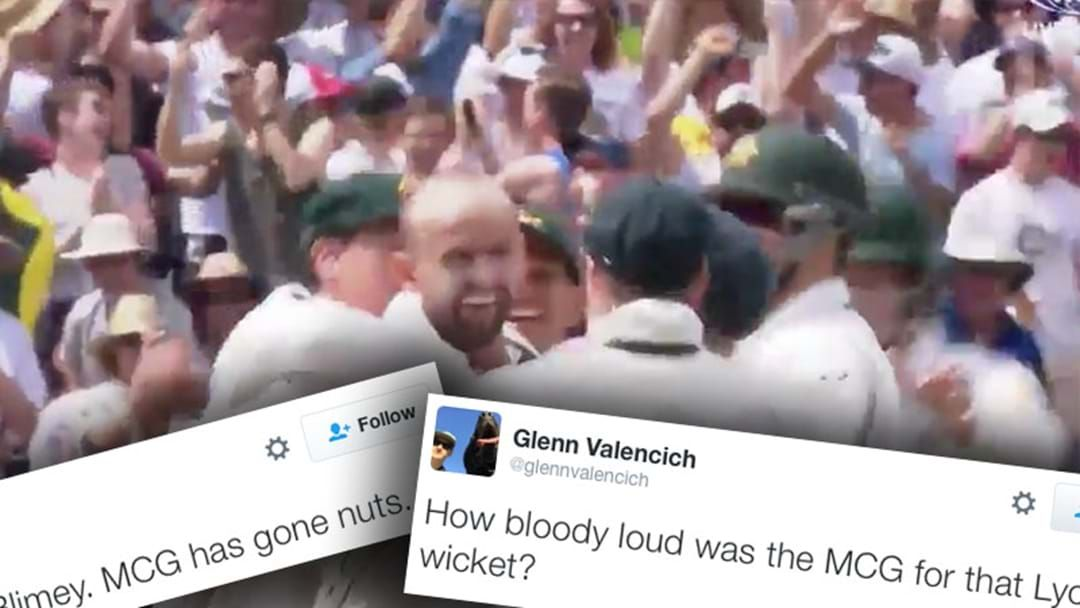 """Article heading image for Nathan Lyon Took A Wicket On The """"Nice Garry"""" Ball And Everyone Went Mental"""