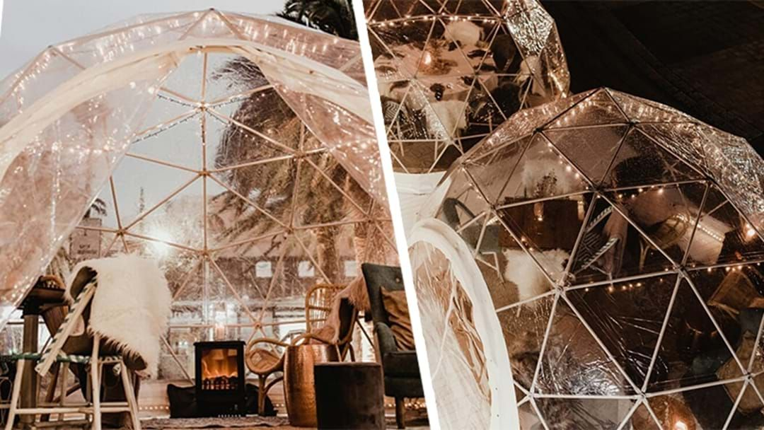 Article heading image for These Stunning Winter Igloos Are Back With $50 Bottomless Booze & Pizza