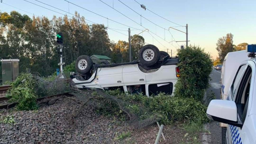 Article heading image for Drunk Driver Crashes Onto Train Tracks