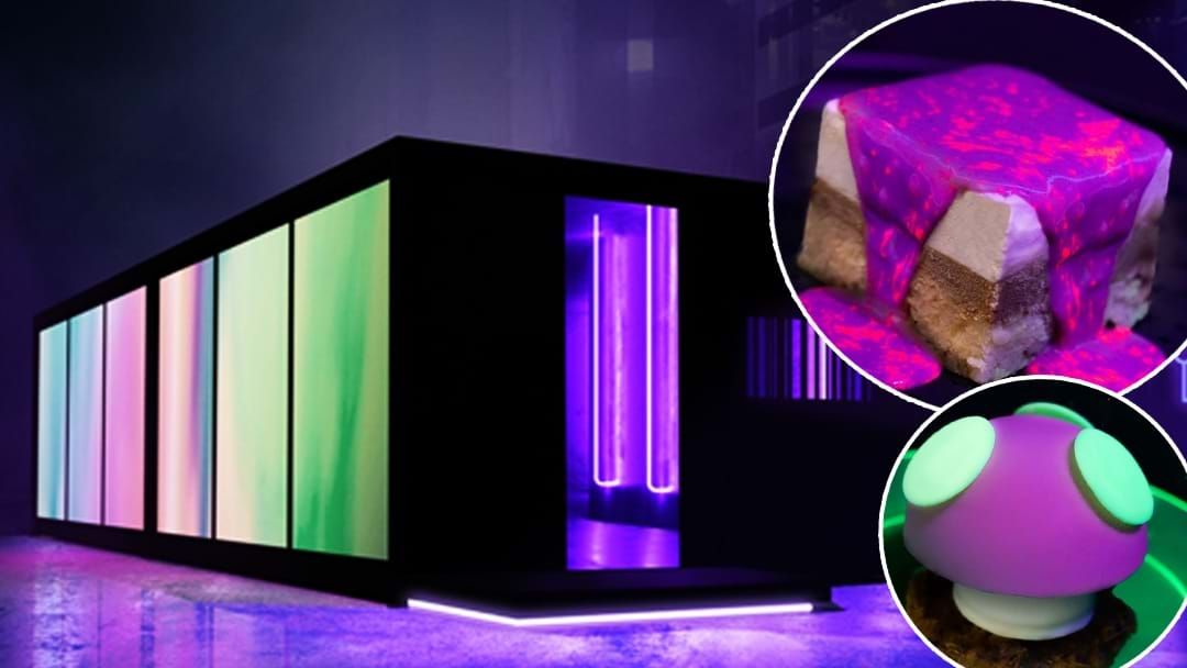 Article heading image for A Glowing Dessert Filled Black Cube Is Popping Up In Sydney This Vivid