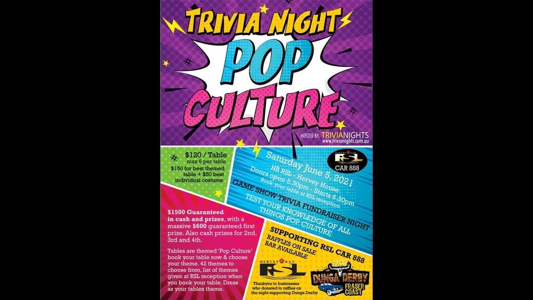 Article heading image for Pop Culture Trivia Night For Dunga Derby!
