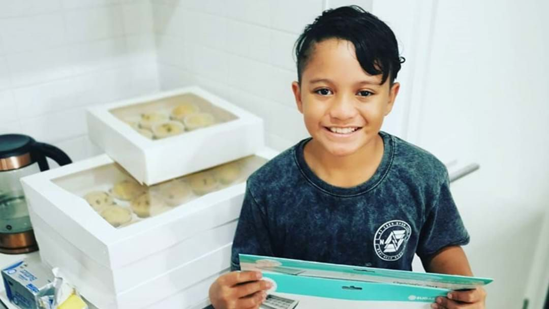 Article heading image for This 11-Year-Old Sydney Boy Is Delivering Cupcakes to Emergency Workers & Supermarket Staff