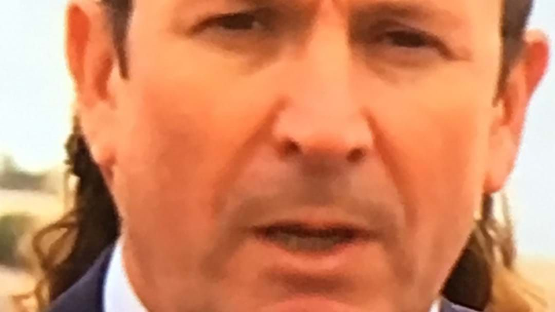Is Mark McGowan Sporting A Beautifully Glorious Mullet ...