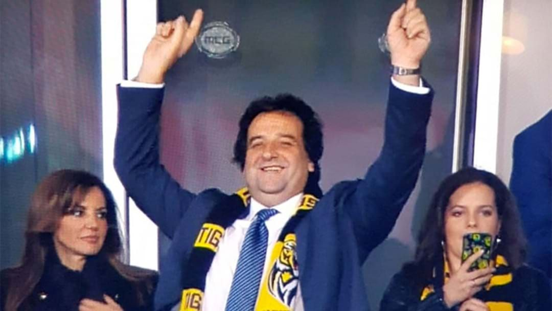"""Article heading image for """"I Was Stonkered!"""" Mick Molloy's Brilliant Reaction To Richmond's Premiership"""