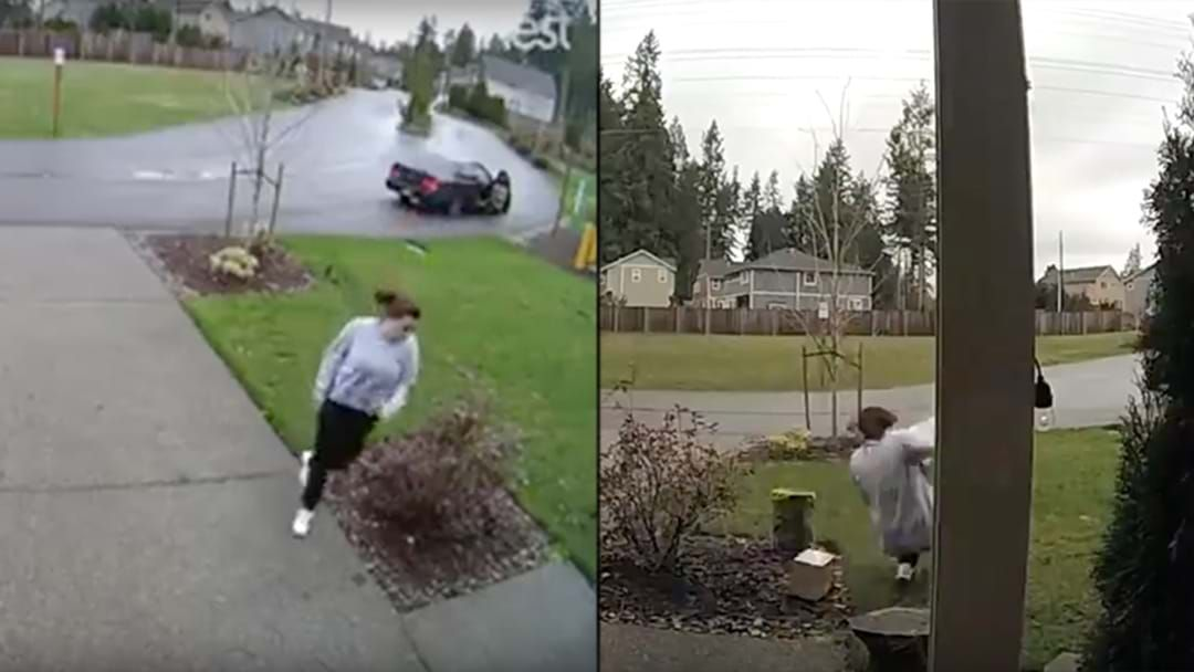 Article heading image for Thief Steals Package From Front Doorstep, Snaps Leg Trying To Get Away