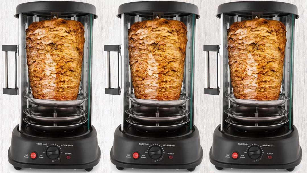 Article heading image for Make Your Own Kebabs With This Home Rotisserie Machine