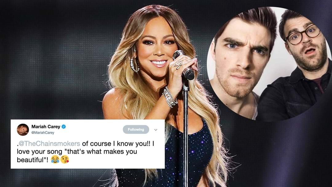 Article heading image for The Chainsmokers Admit Their Hilarious Story About Mariah Carey Was BS