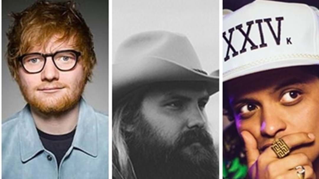 Article heading image for Chris Stapleton Collaborates With Ed Sheeran And Bruno Mars