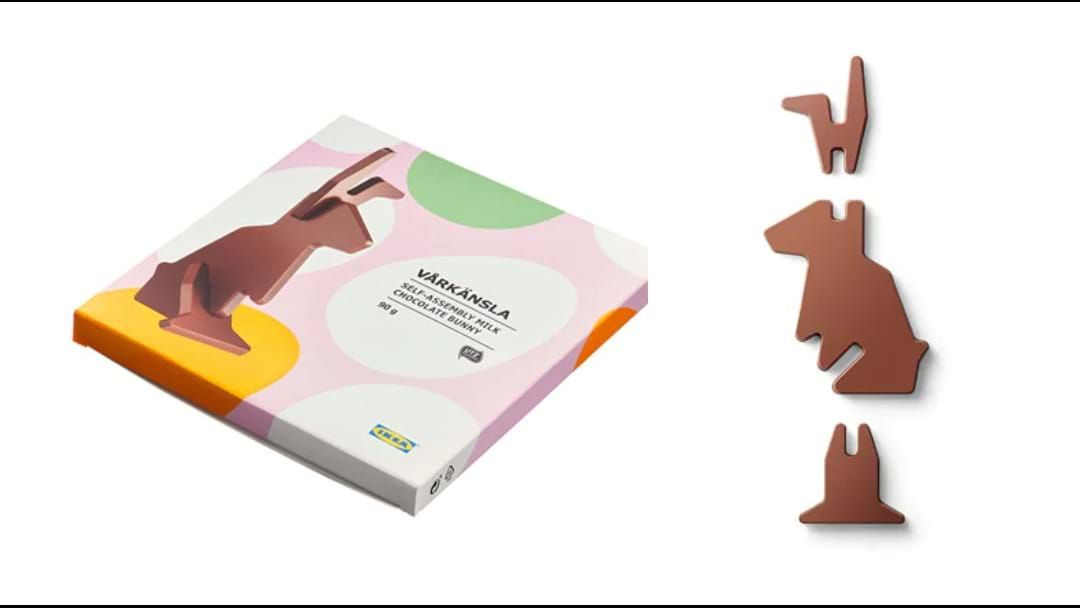 Article heading image for Ikea Are Selling Chocolate Bunnies In Flat Pack Form!