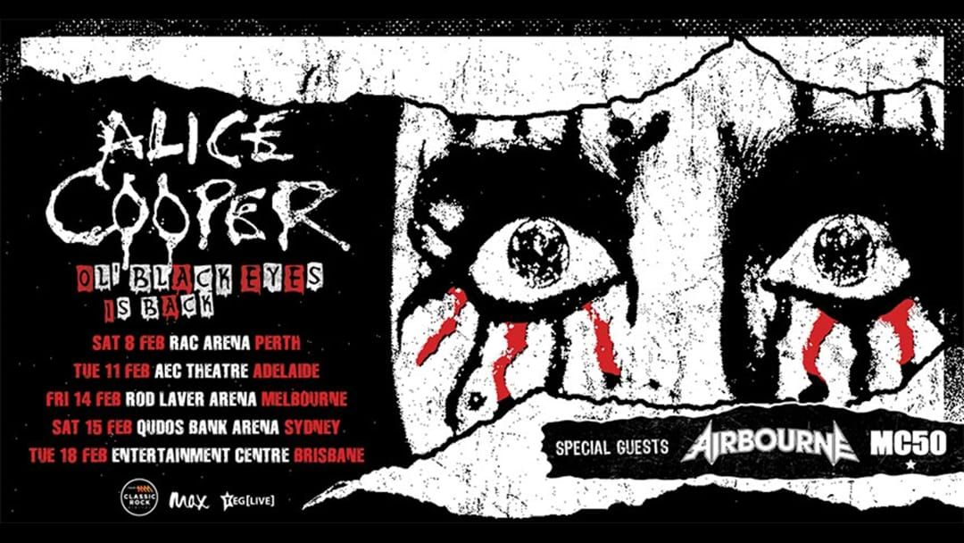 Article heading image for Rock Fans Fire Up... The Man, The Legend, Alice Cooper Is Coming With A Huge Arena Tour Early Next Year