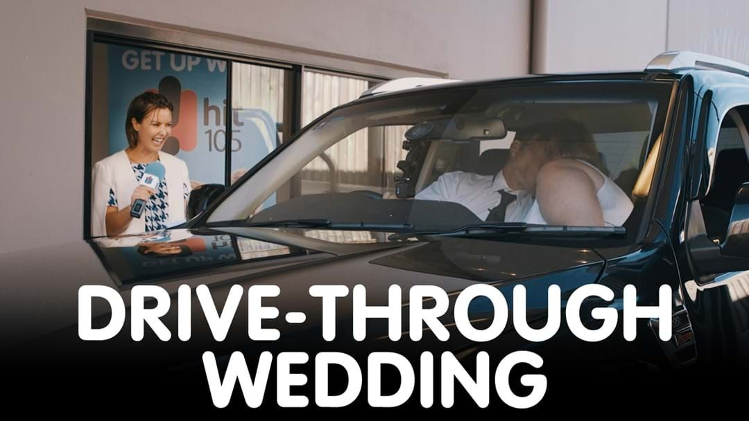 Article heading image for This Brisbane Couple Just Got Married In A Drive-Through Wedding