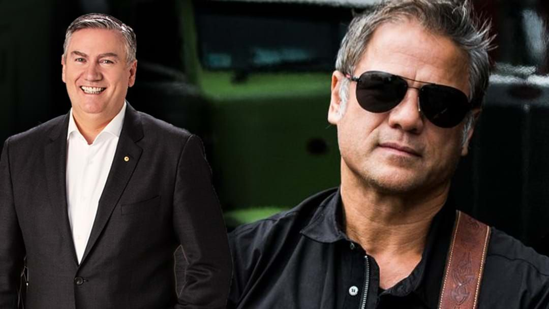 Article heading image for Eddie McGuire Reveals How Jon Stevens Inspired The Collingwood 2010 Flag