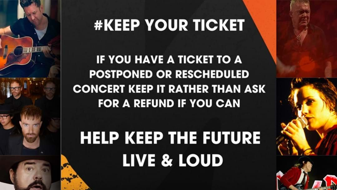 Article heading image for The Australian Music Industry Are Pleading With You To #KeepYourTicket