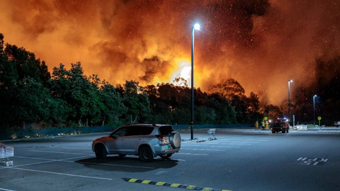 Article heading image for WATCH: Homes Under Ember Attack From Salamander Bay Bushfire