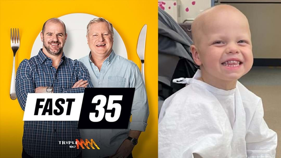 Article heading image for Roo & Ditts Are Fasting For 35 Hours To Raise $35K For A 4 Year Old With Stomach Cancer
