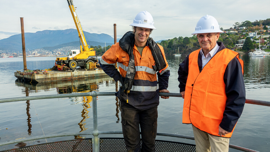 Article heading image for The Construction Of A Public Pier Is Underway In Bellerive