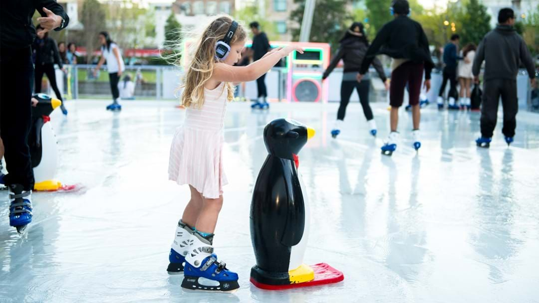 Article heading image for Sydney Is Getting Its Own Silent Disco Ice Skating Rink