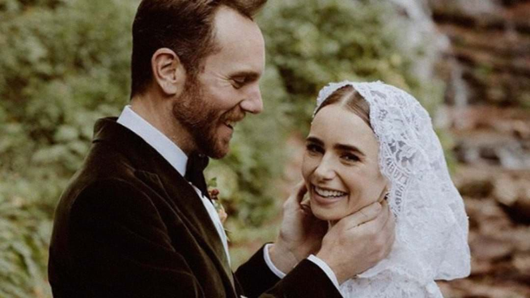 Article heading image for Emily In Paris' Lily Collins Ties The Knot With 'Fairytale' Wedding