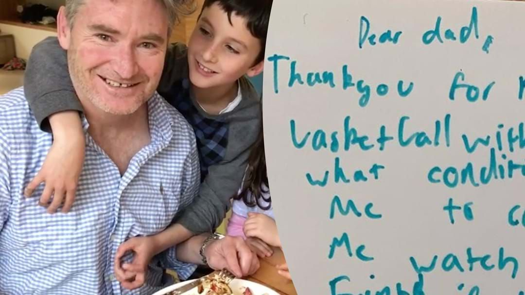 Article heading image for Hughesy's Special Birthday Message from His Son
