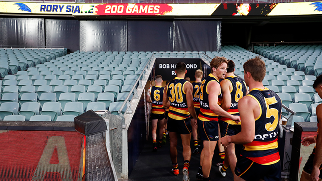 """Article heading image for Mark Ricciuto Says That The Crows """"Will Be Preparing To Play In Hubs Outside Of Adelaide"""""""