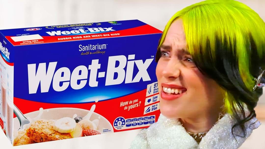 Article heading image for Billie Eilish Paid $35 For A Box Of Cereal Because She Didn't Know Any Better