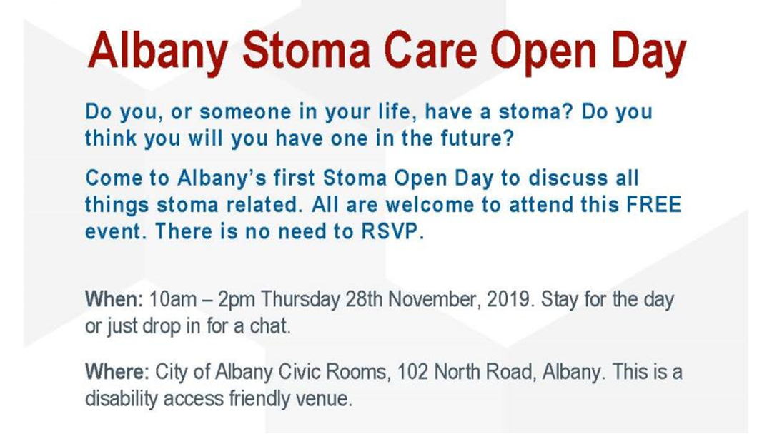 Article heading image for Albany Stoma Care Open Day