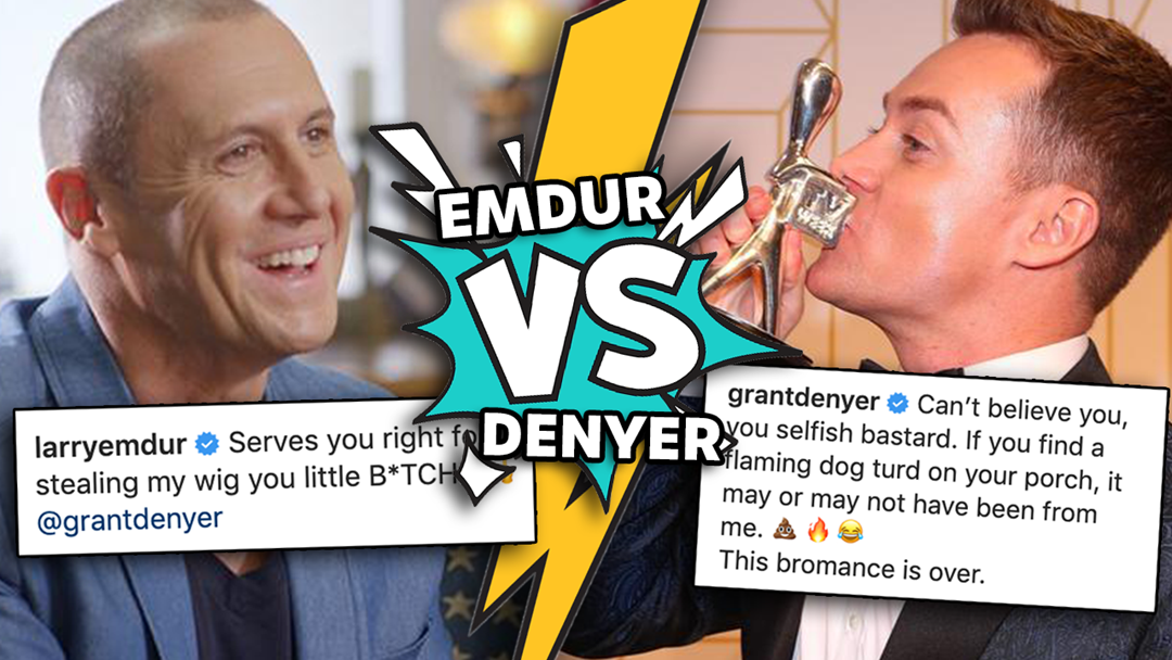 Article heading image for From Grant's Nipple Biting to Defecating in Larry's Office, the Emdur V Denyer Feud Heats Up
