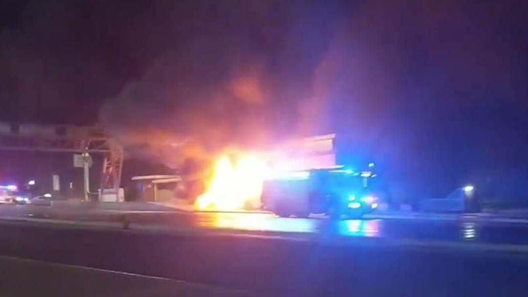 Article heading image for Party Bus Goes Up In Flames On The Sydney Harbour Bridge