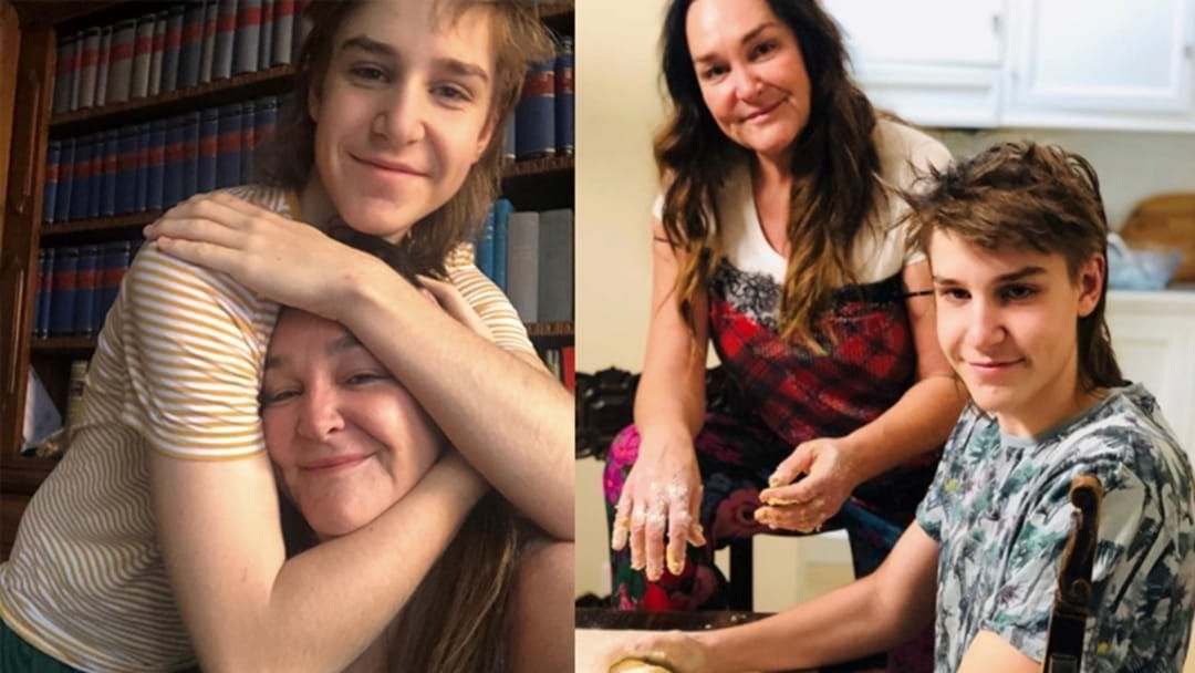 Article heading image for Kate Langbroek's Son Lewis Talks About What It's Like To Spend A Night With His Uncle Hughesy In A Hotel Room!