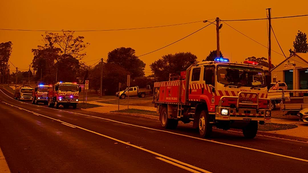 Australian wildfires turned the sky deep red