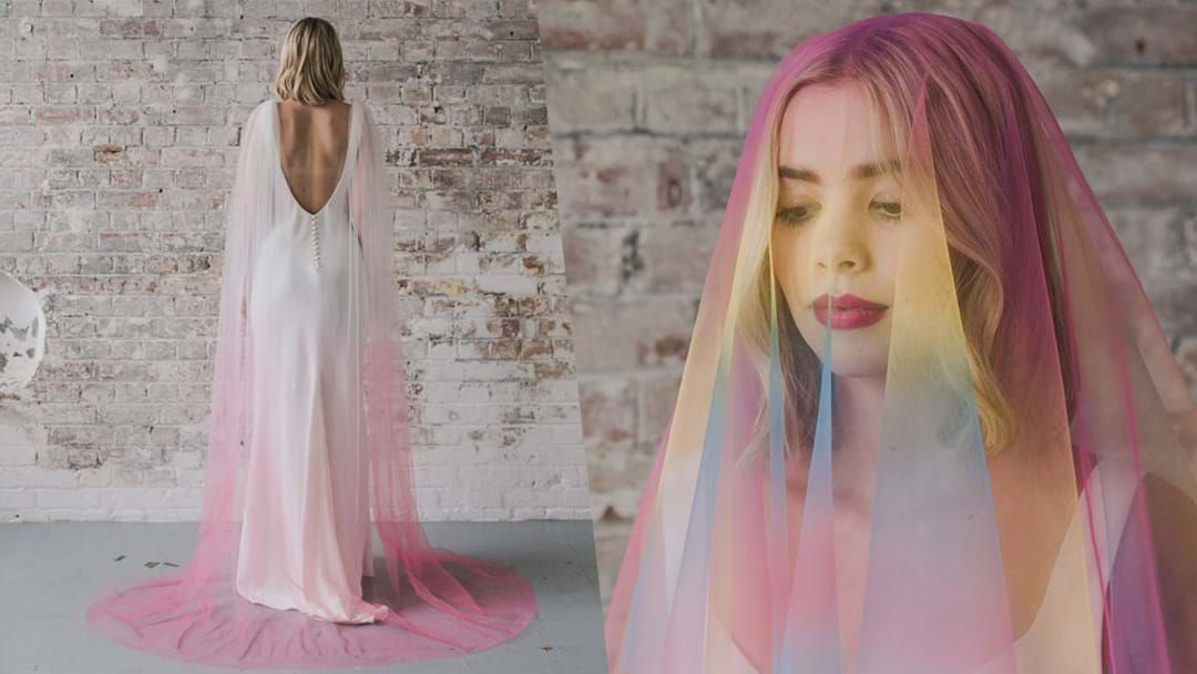Article heading image for Rainbow Wedding Veils Are Perfect For The Alternative Bride!