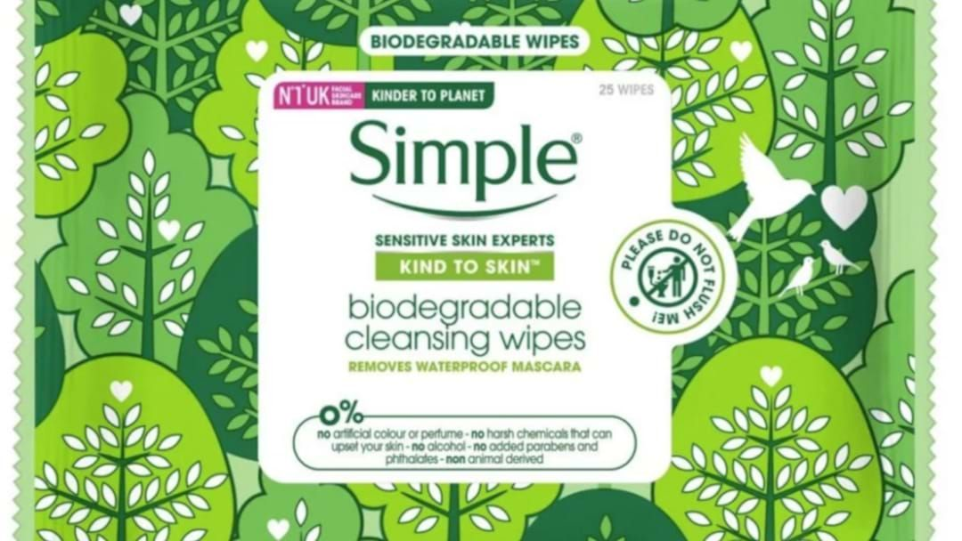 Article heading image for 'Simple' Has Launched Biodegradable Face Wipes