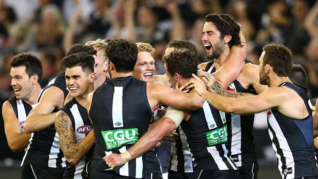 Article heading image for Eddie McGuire Lost His Mind Calling Brodie Grundy's 2016 Goal Against Richmond Last Night