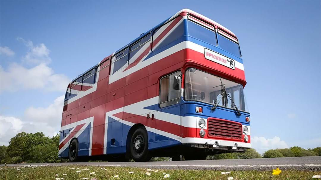 Article heading image for You Can Rent Out The Actual Bus From The Spiceworld Movie On Airbnb