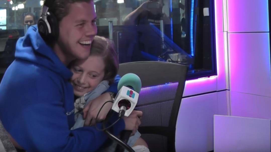 Article heading image for Conrad Sewell Surprises 9-Year-Old Fan & Sings Emotional Duet With Her!