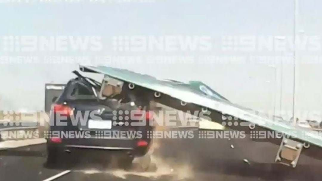 Article heading image for Signs Are Being Removed From Melbourne's Highways After A Was Crushed By One Last Week