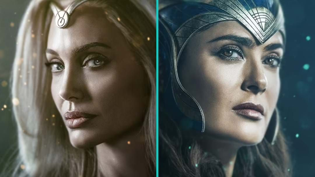 Article heading image for Angelina Jolie And Salma Hayek Prove Ageing Is A Myth In Marvel's The Eternals