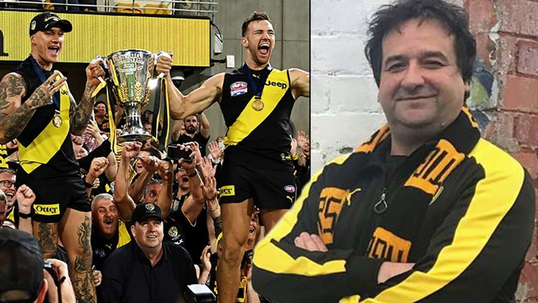 Article heading image for Mick Molloy Gets Up And About After Richmond Win The Flag!