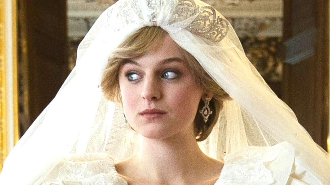 Article heading image for The Crown's Emma Corrin Describes The Eerie Moment She Put On Princess Diana's Wedding Dress