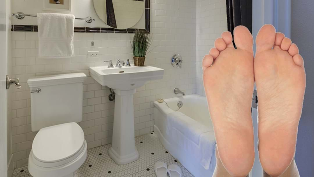 """Article heading image for LISTEN: Couple At Odds Over The Man's """"Toilet Feet"""""""