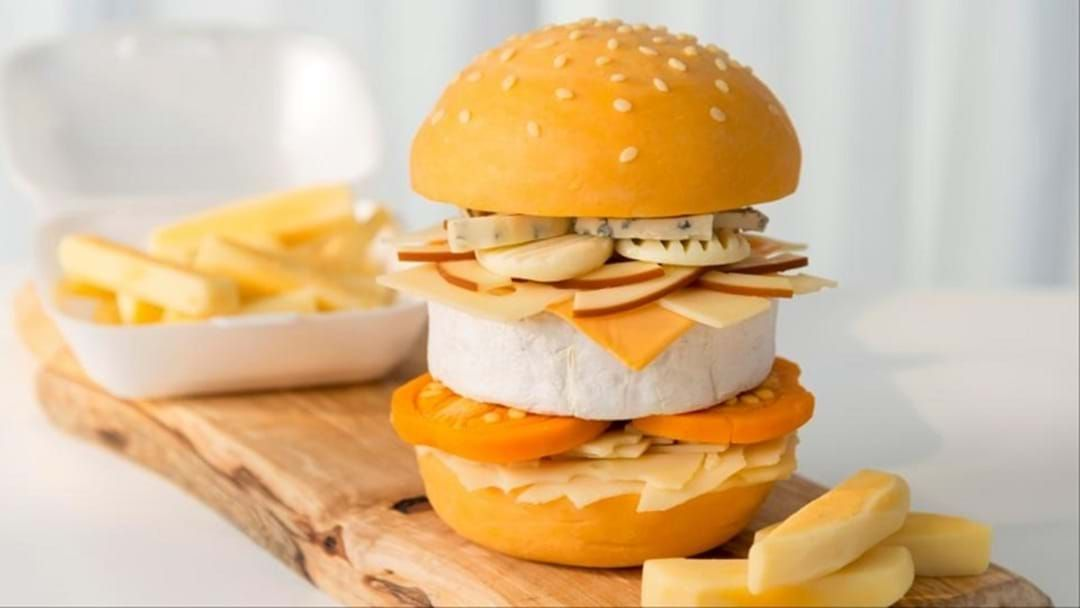 Article heading image for The UK have invented the CHEESIEST BURGER IMAGINABLE!