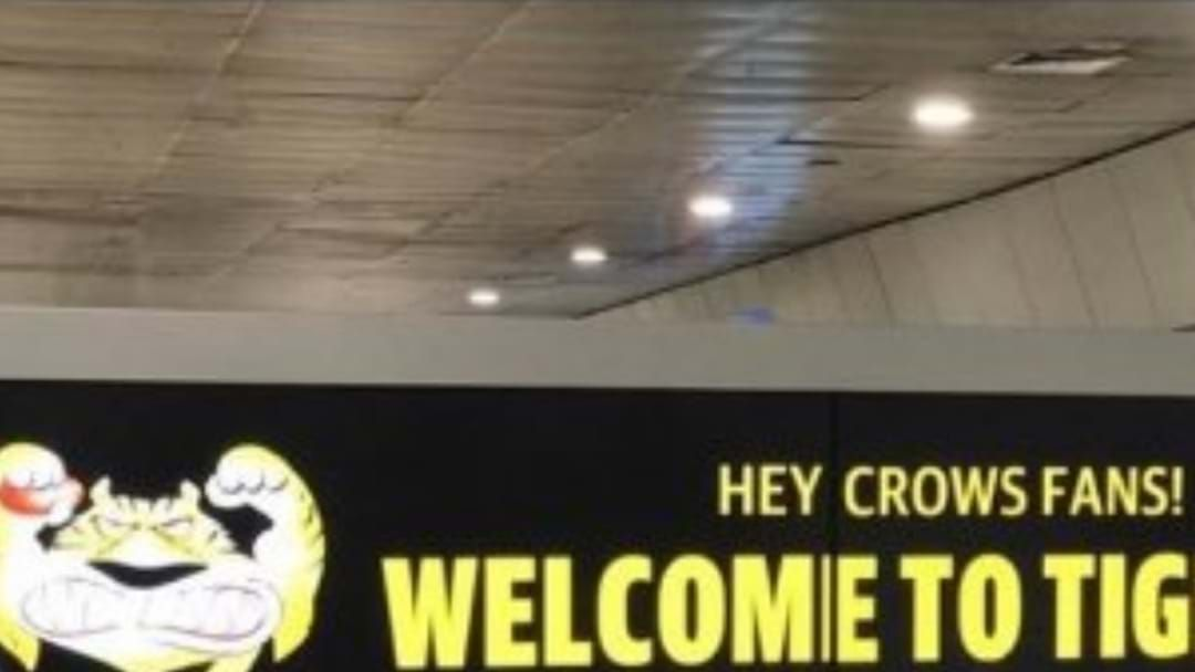 Article heading image for A 'Welcoming' Sign For Crows Fans At Melbourne Airport Baggage Collection