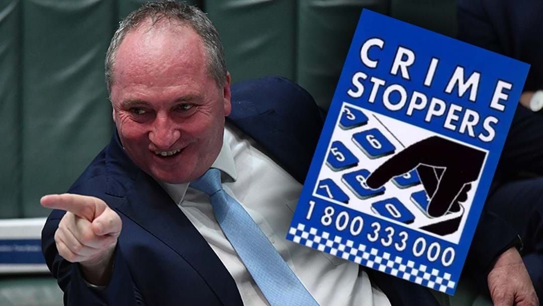 Article heading image for A Member Of The Public Dobbed Barnaby Joyce Into Crime Stoppers For Not Wearing A Mask At A Servo