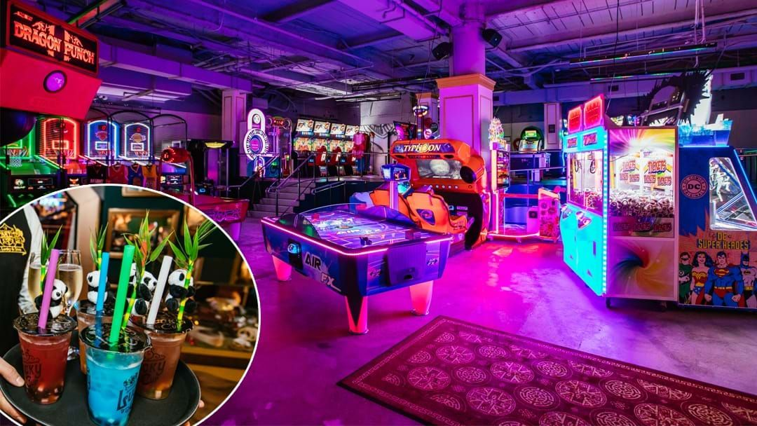 Article heading image for Sydney Has A Brand New Arcade Bar With Boozy Bubble Tea