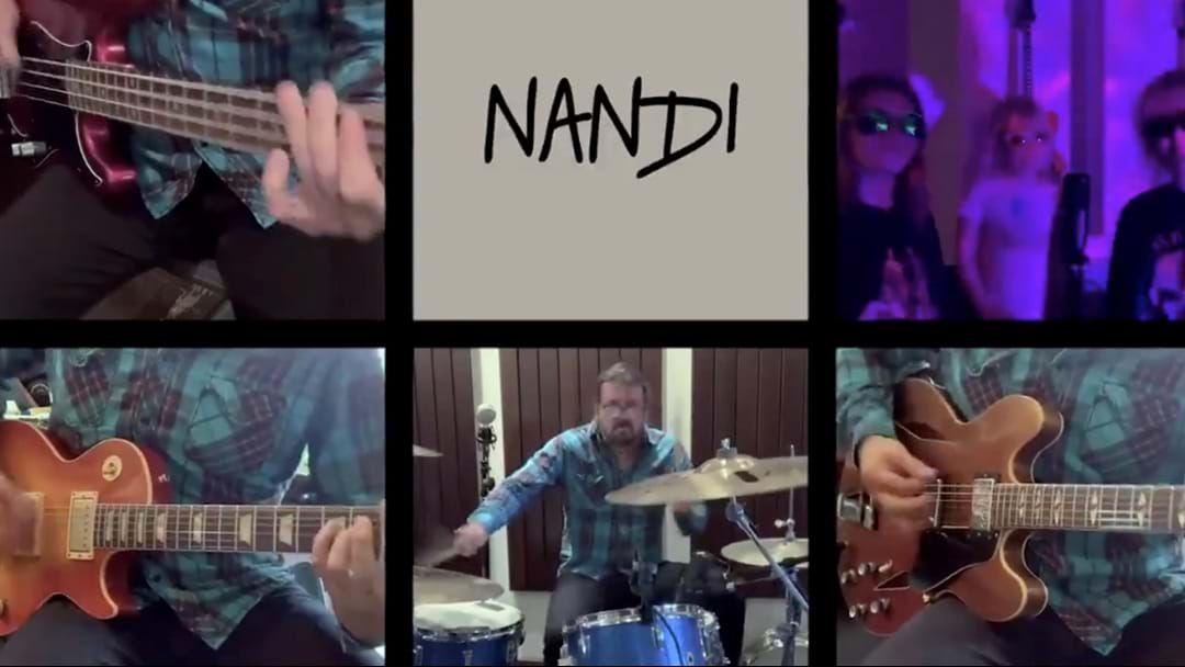 Article heading image for Dave Grohl And Family Band The Grohlettes Debut New Song About 10 Year Old Super Drummer Nandi