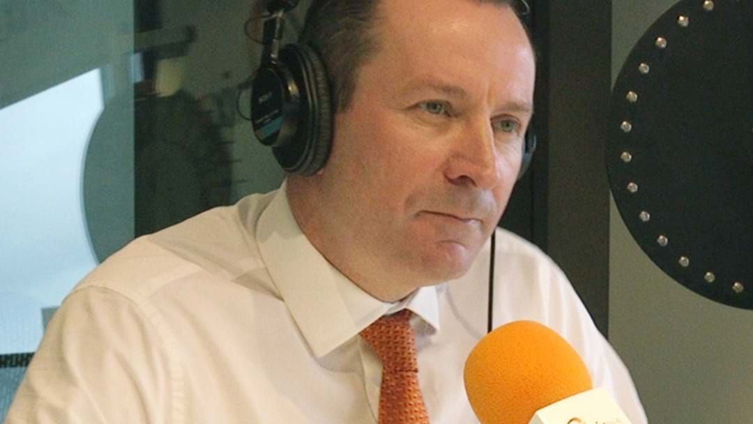 Article heading image for WA Premier Mark McGowan Says No To Travel Exemptions For AFL